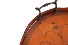 English Adam Satinwood Medallion End Table - 1438050