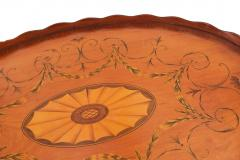 English Adam Satinwood Medallion End Table - 1438052