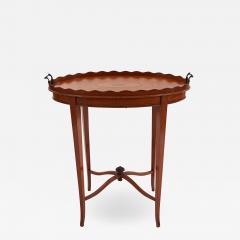 English Adam Satinwood Medallion End Table - 1443465