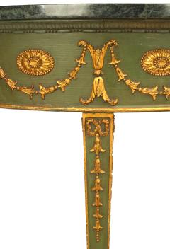 English Adam Style Gilt and Marbled Console Table - 1428030