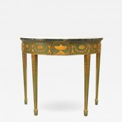 English Adam Style Gilt and Marbled Console Table - 1430481