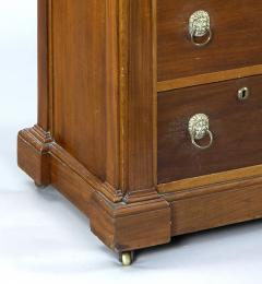 English Antique Late Regency Library Cabinet Desk - 777029