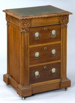 English Antique Late Regency Library Cabinet Desk - 777030
