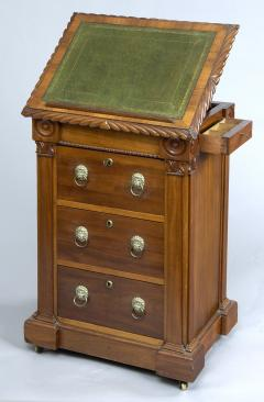 English Antique Late Regency Library Cabinet Desk - 777032