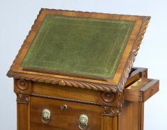 English Antique Late Regency Library Cabinet Desk - 777034