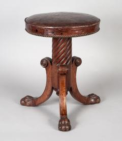 English Antique Regency Revolving Piano Stool - 1247304