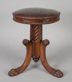 English Antique Regency Revolving Piano Stool - 1247307