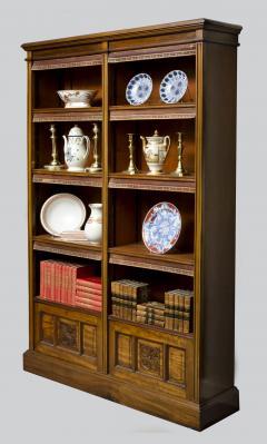 English Antique Victorian Walnut Open Bookcase Circa 1870 - 777120