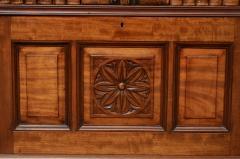 English Antique Victorian Walnut Open Bookcase Circa 1870 - 777121