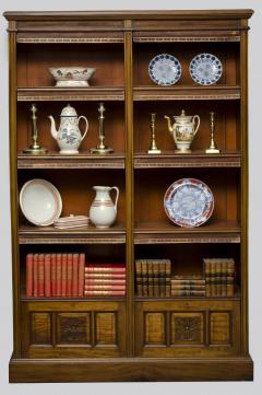 English Antique Victorian Walnut Open Bookcase Circa 1870 - 777122