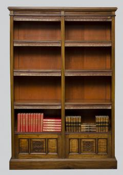 English Antique Victorian Walnut Open Bookcase Circa 1870 - 777123