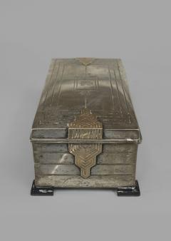 English Art Deco Sterling Silver Rectangular Box - 515187