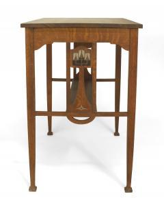 English Arts Crafts Oak Table Desk - 1428949