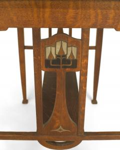 English Arts Crafts Oak Table Desk - 1428950