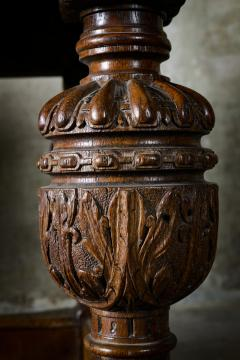 English Carved Oak Table - 282049