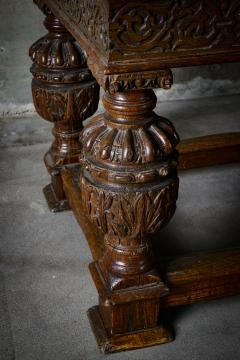 English Carved Oak Table - 282052