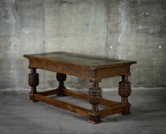 English Carved Oak Table - 282053