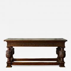 English Carved Oak Table - 282239