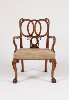 English Carved Walnut Armchair in the George II Style - 640160