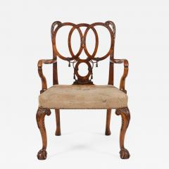 English Carved Walnut Armchair in the George II Style - 643524