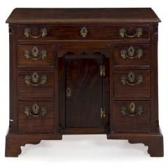 English Chippendale Mahogany Kneehole Desk - 707777