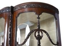 English Chippendale Style Mahogany Breakfront Display Cabinet C A 1900 s - 1823957