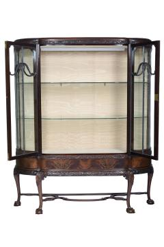 English Chippendale Style Mahogany Breakfront Display Cabinet C A 1900 s - 1823963