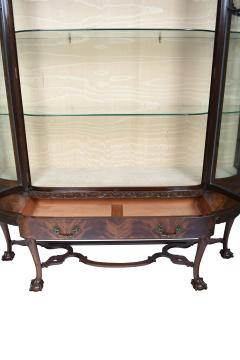 English Chippendale Style Mahogany Breakfront Display Cabinet C A 1900 s - 1823964