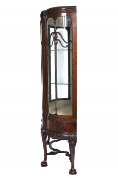 English Chippendale Style Mahogany Breakfront Display Cabinet C A 1900 s - 1823968
