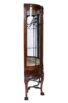 English Chippendale Style Mahogany Breakfront Display Cabinet C A 1900 s - 1823970