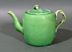 English Creamware Pottery Green Glazed Teapot Cover Swinton Yorkshire - 1617855
