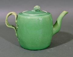 English Creamware Pottery Green Glazed Teapot Cover Swinton Yorkshire - 1617856