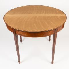 English Demi Lune Flip Top Game Table - 1718535