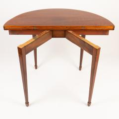 English Demi Lune Flip Top Game Table - 1718536