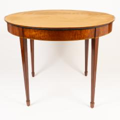 English Demi Lune Flip Top Game Table - 1718537