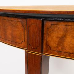 English Demi Lune Flip Top Game Table - 1718541