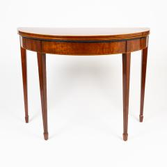 English Demi Lune Flip Top Game Table - 1718542