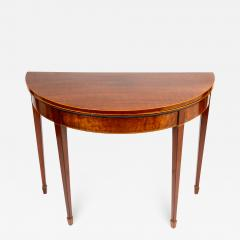 English Demi Lune Flip Top Game Table - 1719473