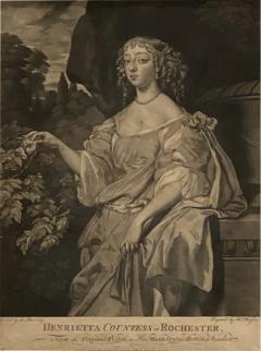 English Engraving Henrietta Countess of Rochester Circa 19th Century - 1475339