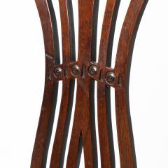 English Geo III carved mahogany arm chair - 1722948