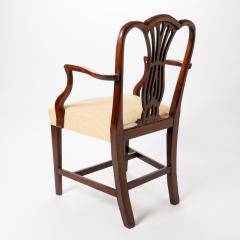 English Geo III carved mahogany arm chair - 1722955