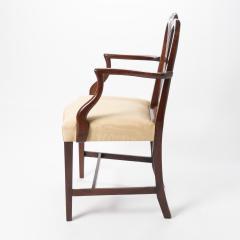 English Geo III carved mahogany arm chair - 1722969
