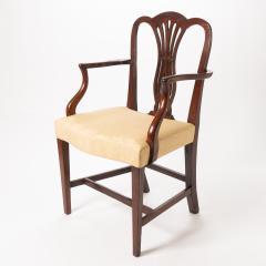 English Geo III carved mahogany arm chair - 1722970