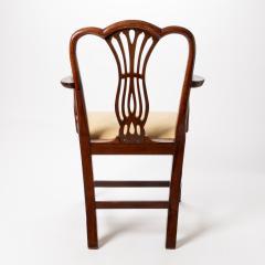 English Geo III carved mahogany arm chair - 1722982