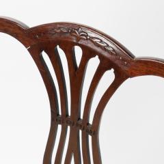 English Geo III carved mahogany arm chair - 1722987
