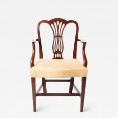 English Geo III carved mahogany arm chair - 1724765