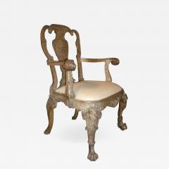 English George I style Silvered Armchair after a design by William Kent - 1300731