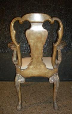 English George I style Silvered Armchair after a design by William Kent - 622676