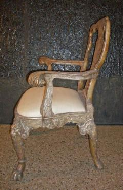 English George I style Silvered Armchair after a design by William Kent - 622677