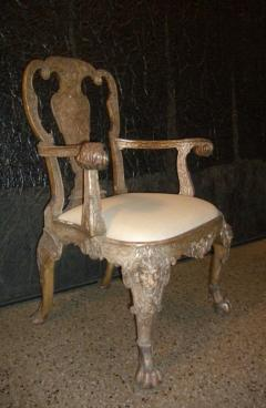 English George I style Silvered Armchair after a design by William Kent - 622678